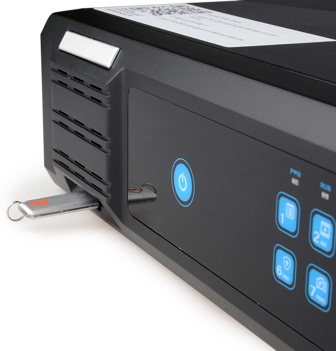 Port USB umieszczony na przednim panelu rejestratora BCS-PNVR3208