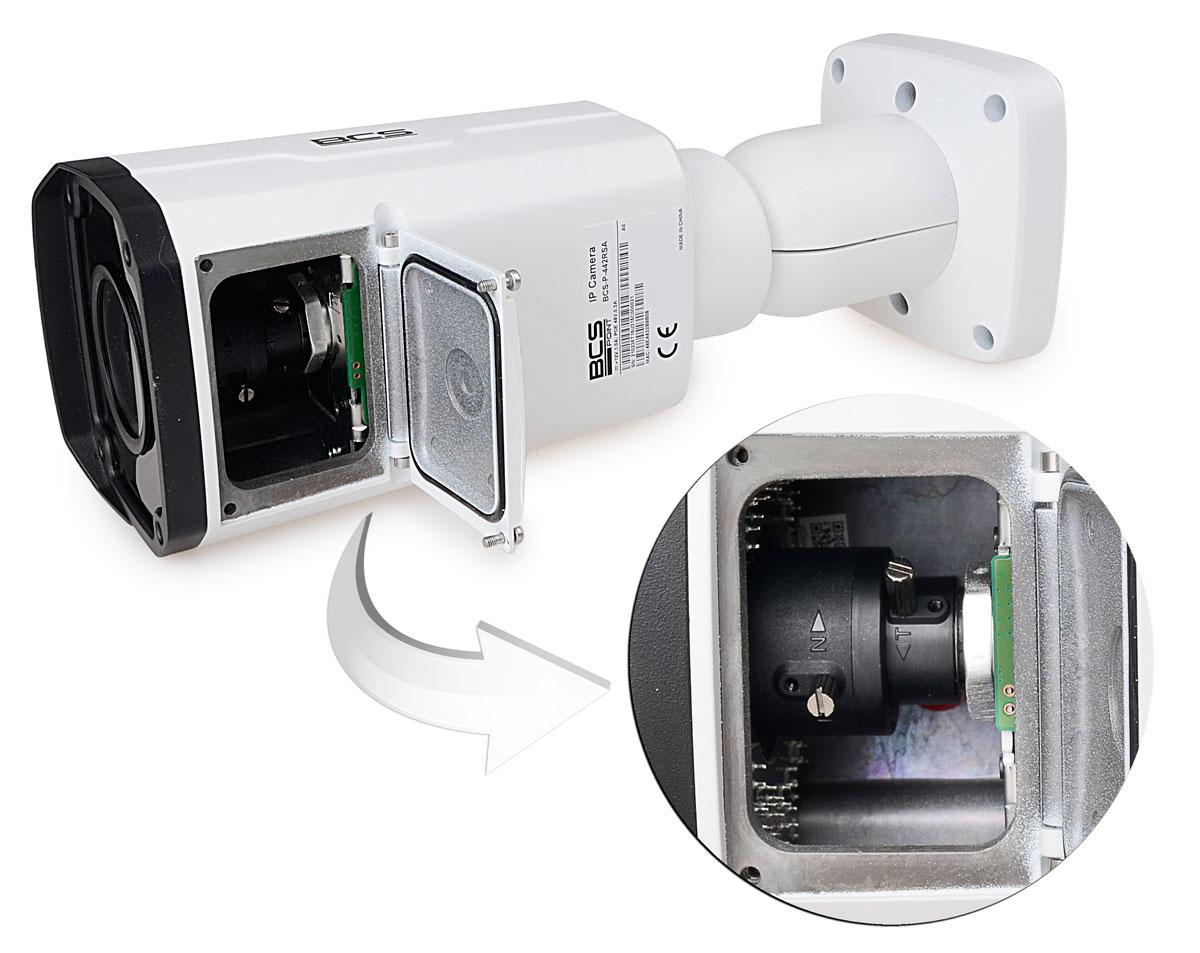 Miejsce regulacji obiektywu w kamerze BCS-P442RSA