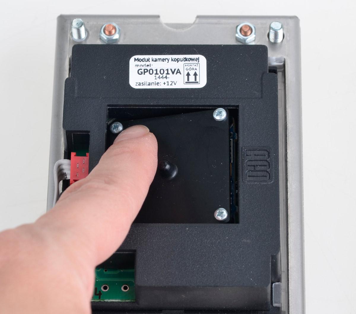 Sposób regulacji położenia kamery w stacji FAM-PV-2NP NT