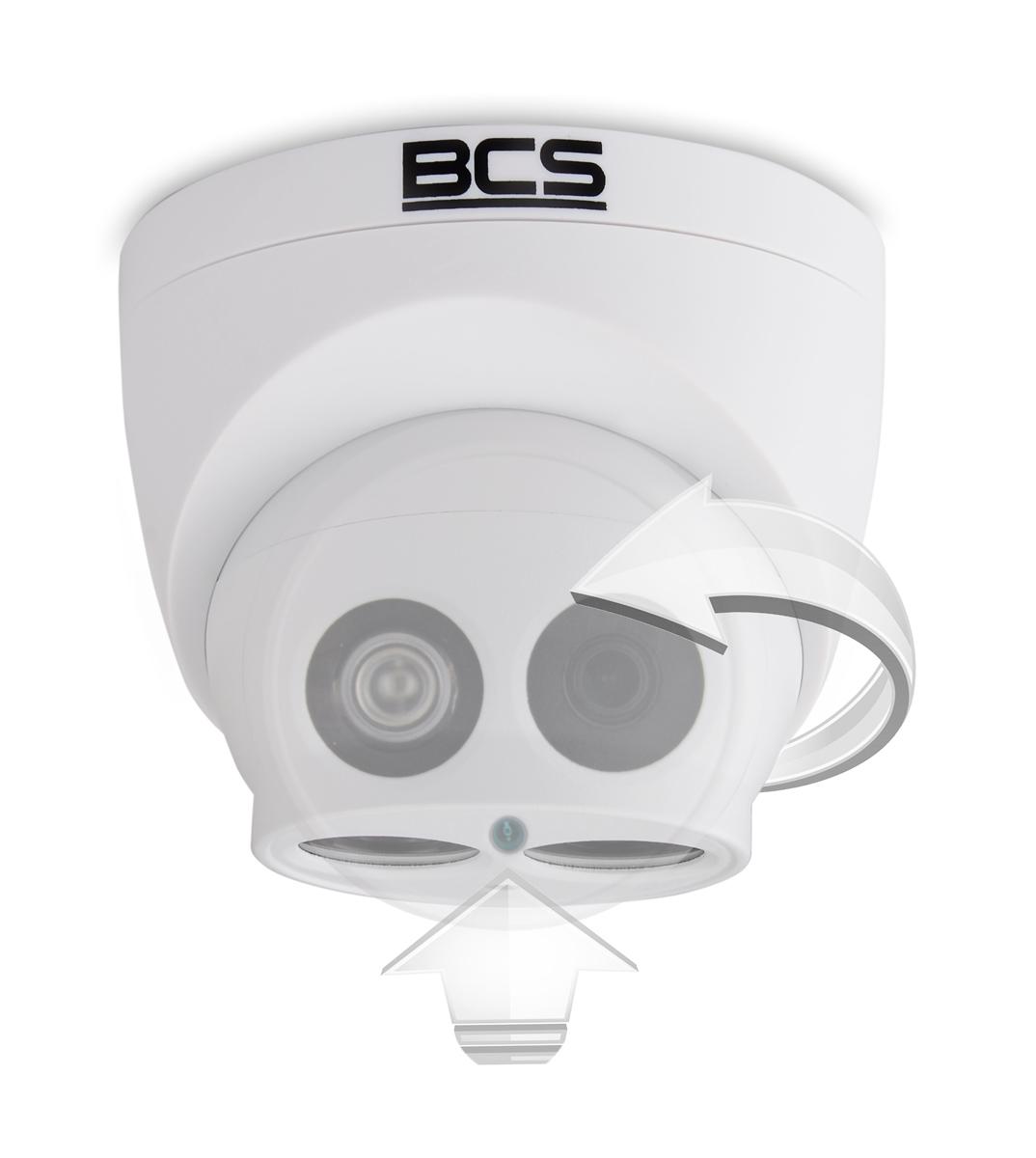 Kopuła kamery BCS-DMIP2200AIR-II może być regulowana w dwóch płaszczyznach