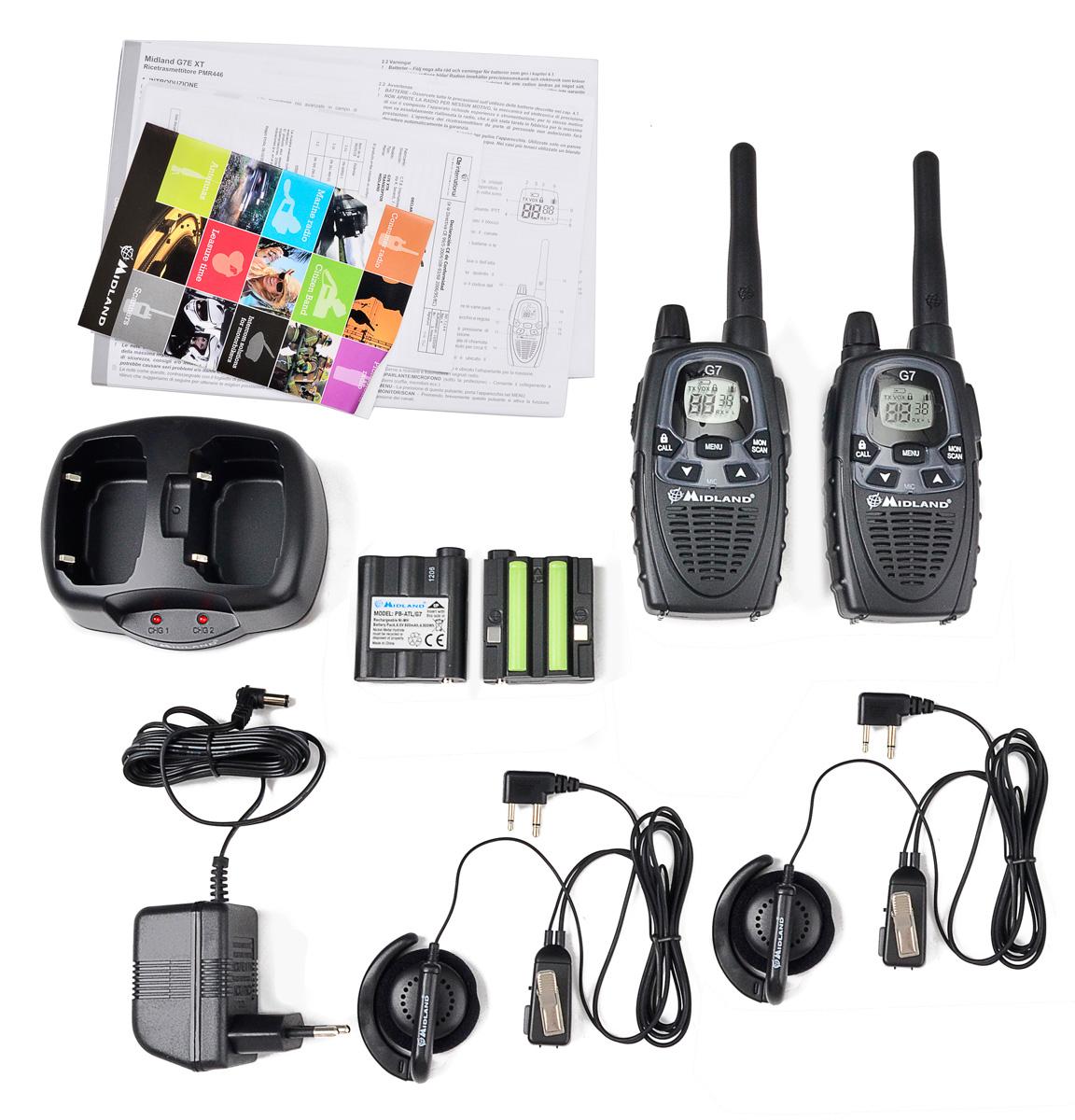 Elementy zestawu radiotelefonu Midland G7