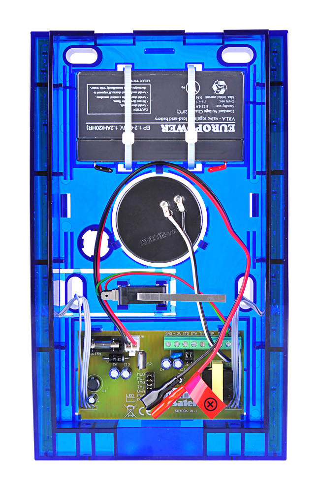 Wnętrze sygnalizatora SP-4006 BL