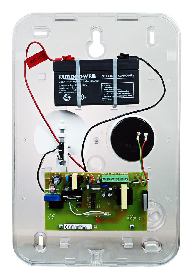 Wnętrze sygnalizatora SPLZ-1011 R
