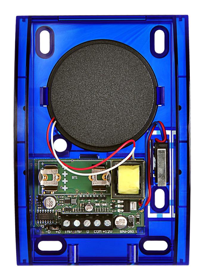 Wnętrze sygnalizatora SPW-250 BL