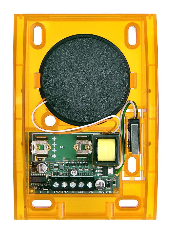 Wnętrze sygnalizatora SPW-250 O