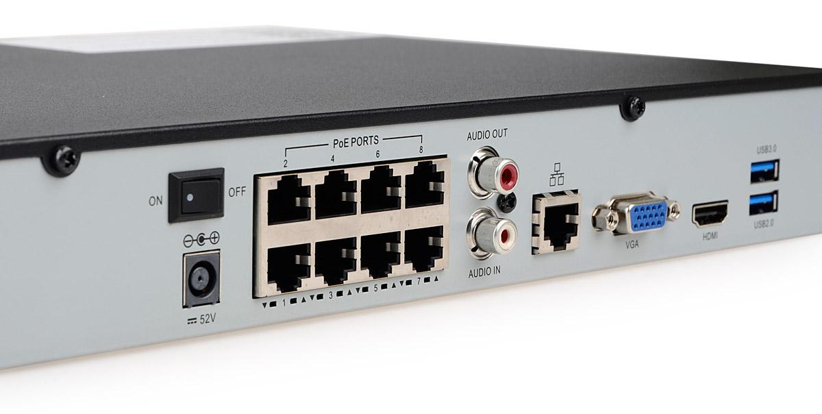 8-portowy switch PoE rejestratora BCS-PNVR1602-8P