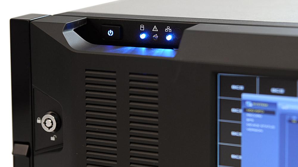 Diodowa sygnalizacja pracy rejestratora BCS-NVR6416DR-4K