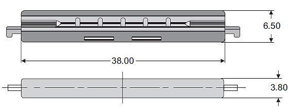 Wymiary spawu mechanicznego C-MS100-NT