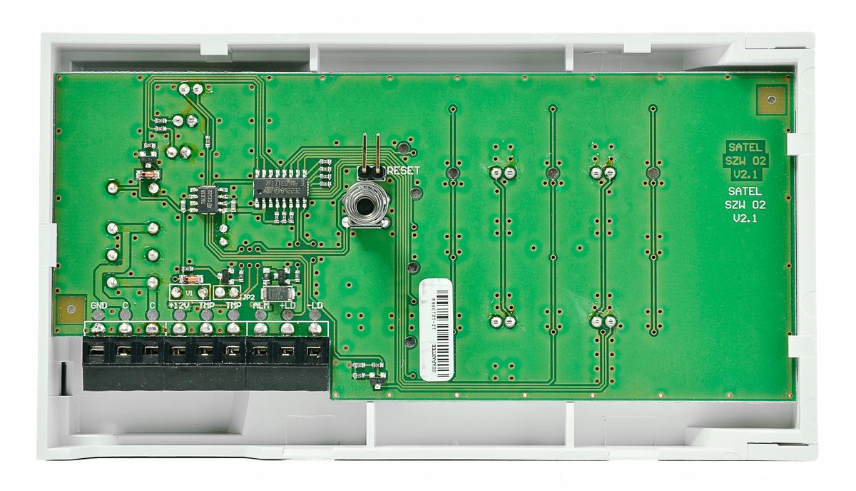 Wnętrze modułu kontroli przejścia SZW-02