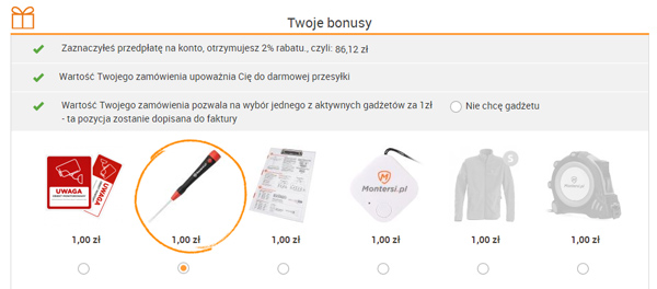 bonusy montersi.pl