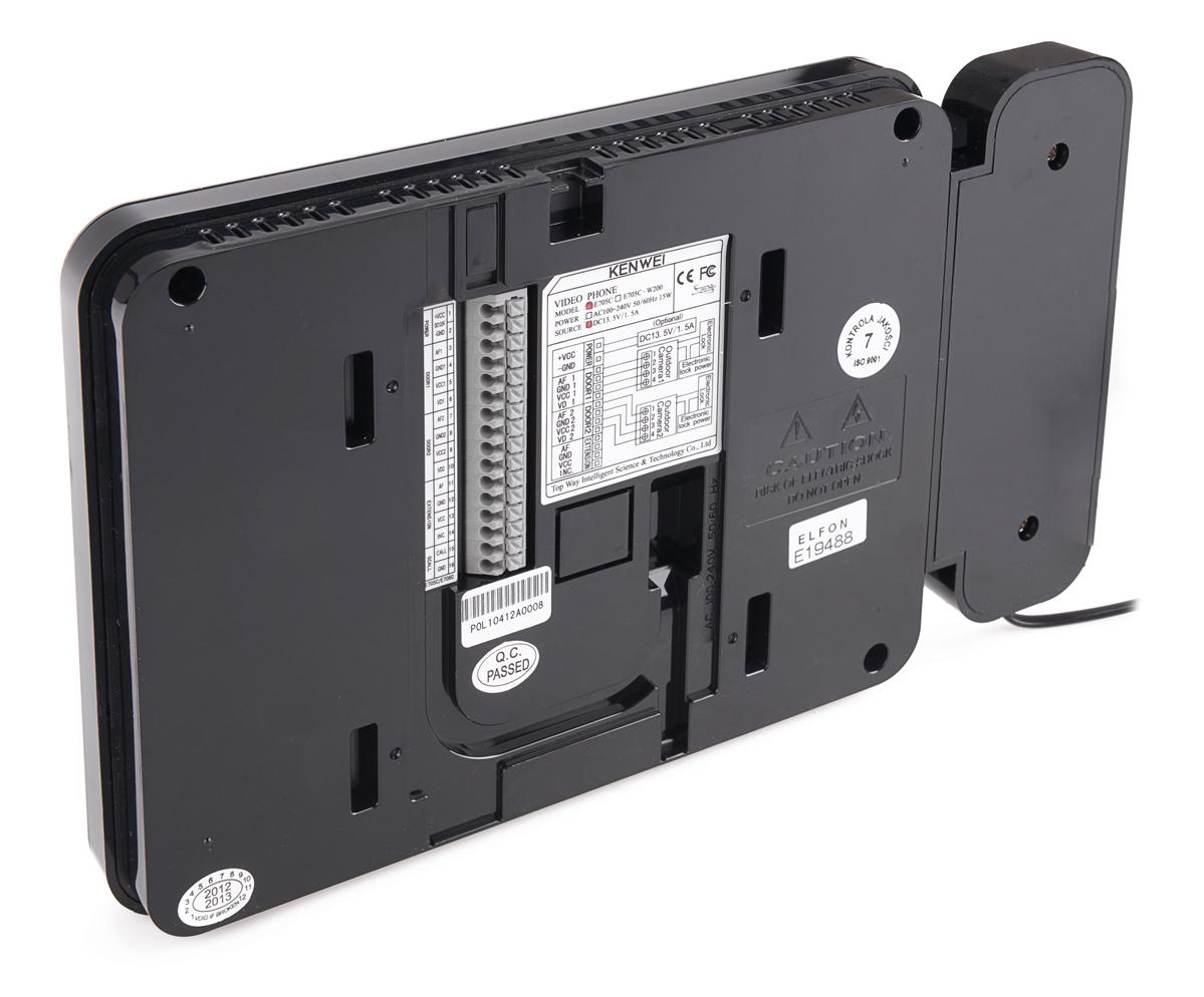Tył monitora KW-E705FC/W100-B