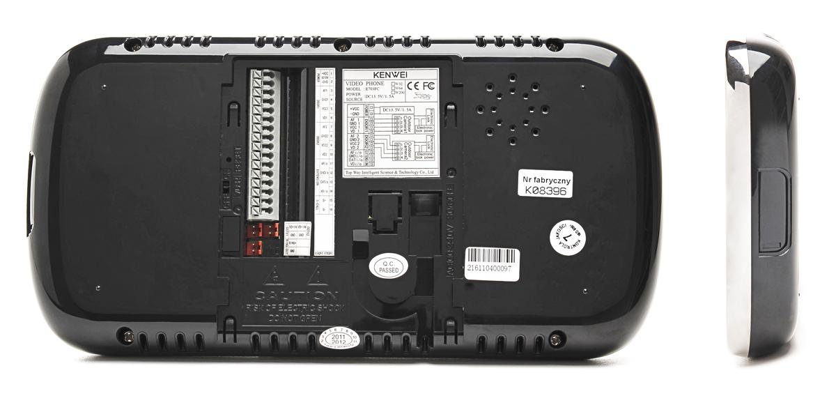 Tył monitora KW-E703FC-B