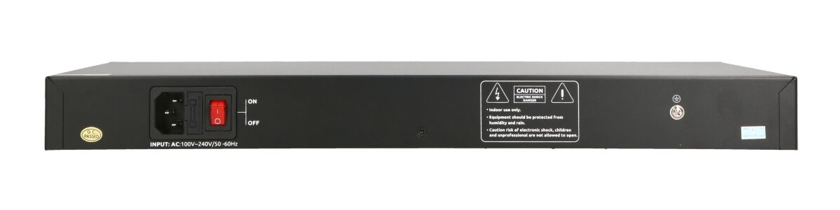 Tył switcha PoE PIX-POE24AT-2GE