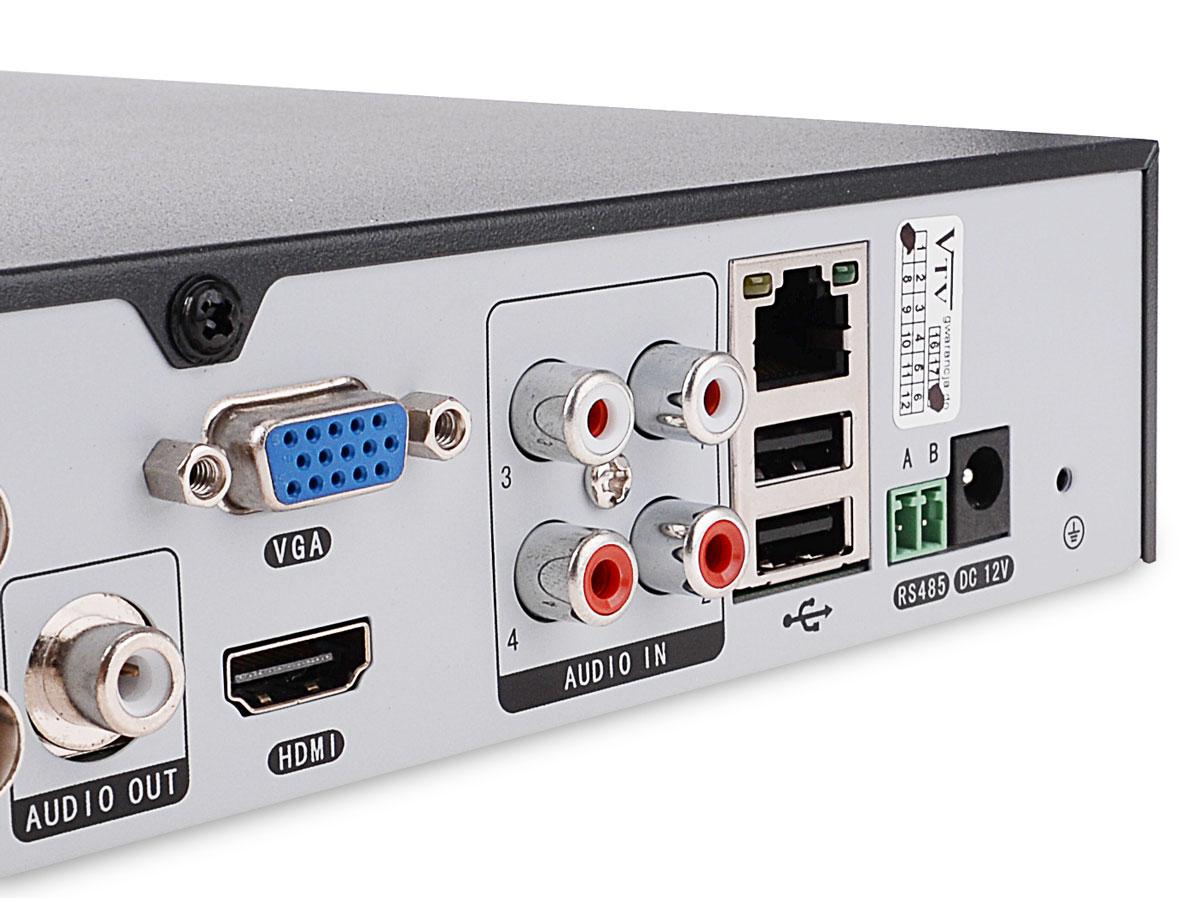 Wejścia audio rejestratora VAHR-08MA