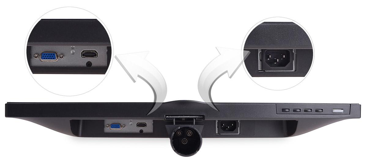 Wejścia wideo i zasilania w monitorze 223V5LHSB2/00