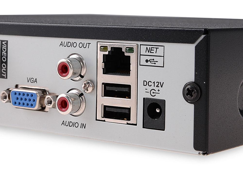 Wejścia/wyjścia rejestratora BCS-QDVR0801ME