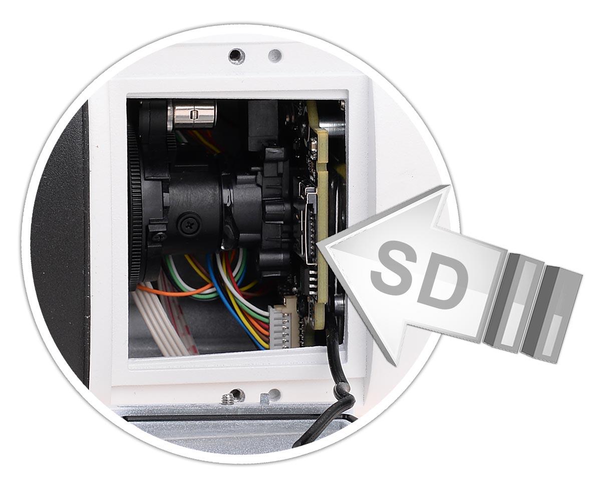 Gniazdo na kartę SD w kamerze BCS-TIP5300IR-V-III