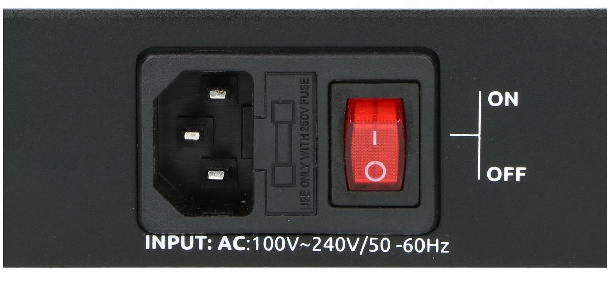 Wejście zasilania w switchu PIX-POE24AT-2GE-2SFP