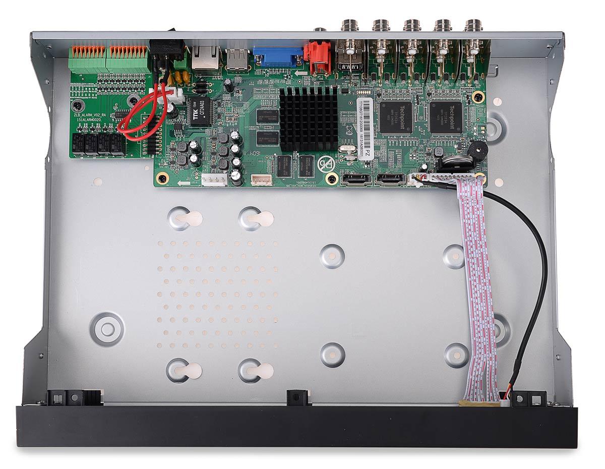 Wnętrze rejestratora BCS-QDVR0801Q