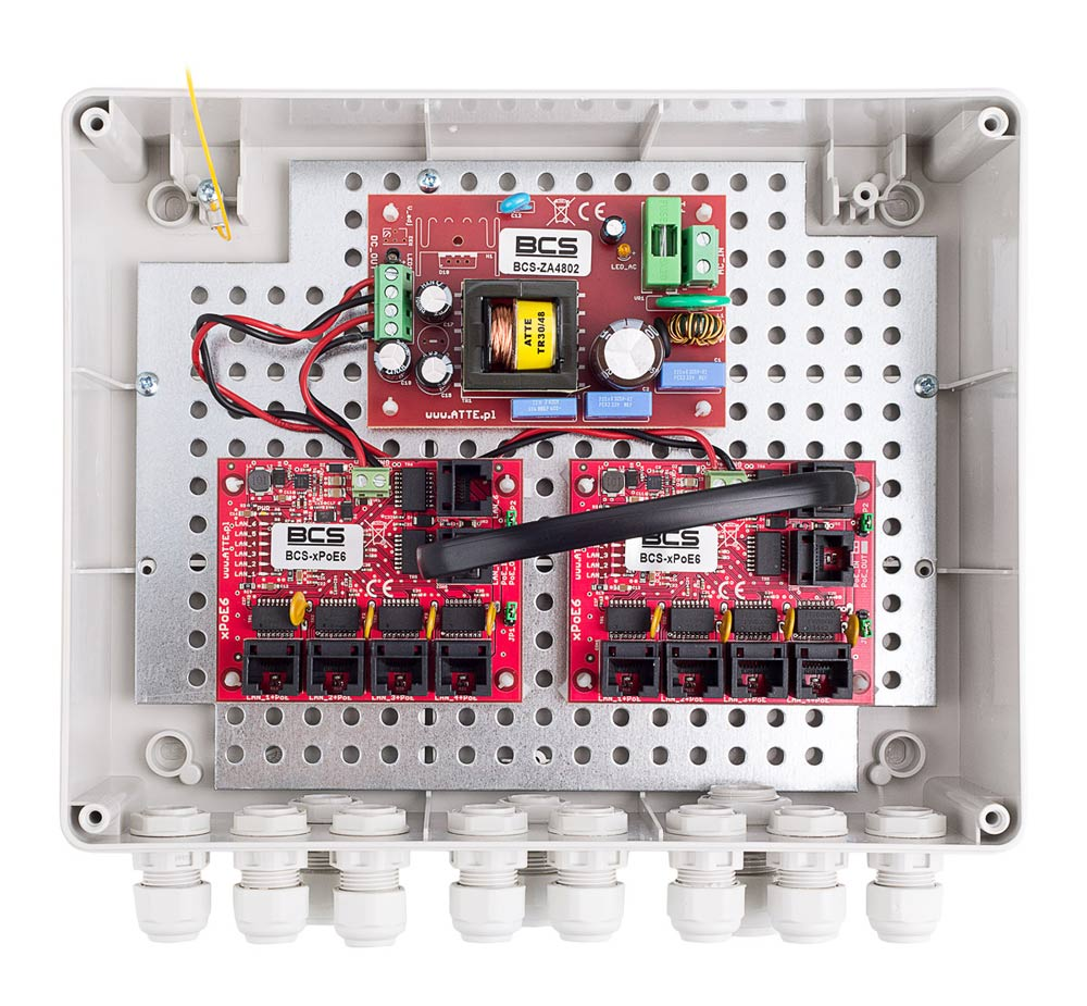 Wnętrze modelu BCS-IP8/Z/E-S