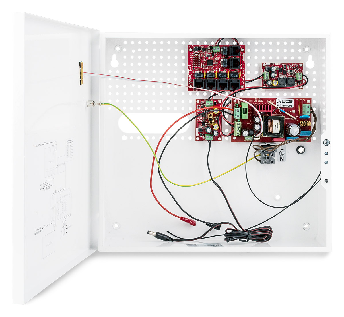Wnętrze zasilacza BCS-UPS/IP4/E-S