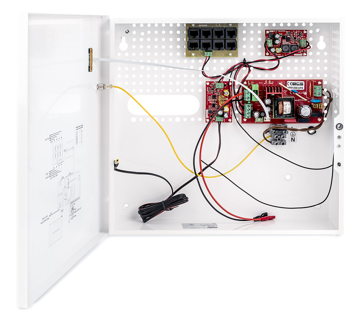 Wnętrze zasilacza BCS-UPS/IP4/E