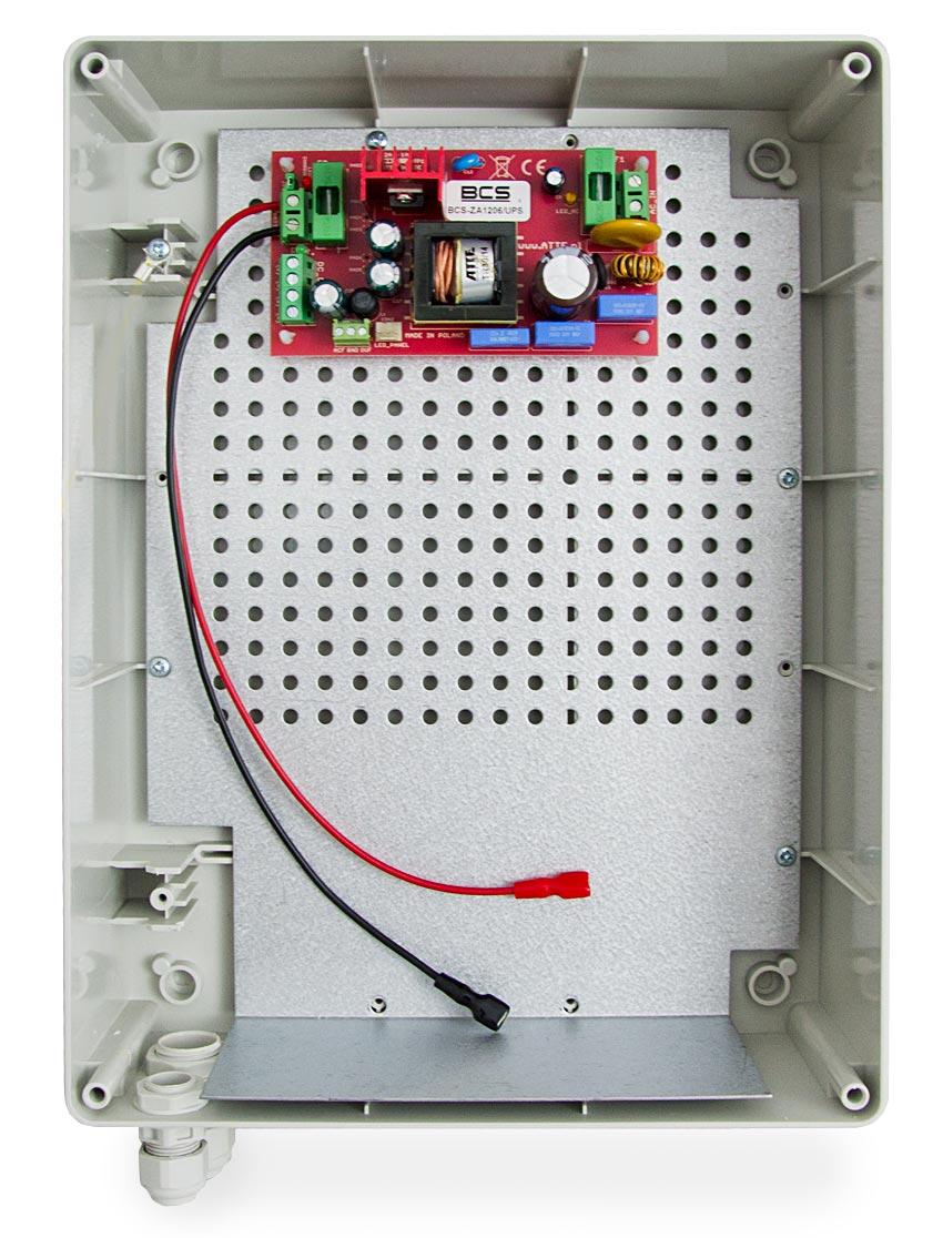 Wnętrze zasilacza BCS-ZA1206/UPS/XL