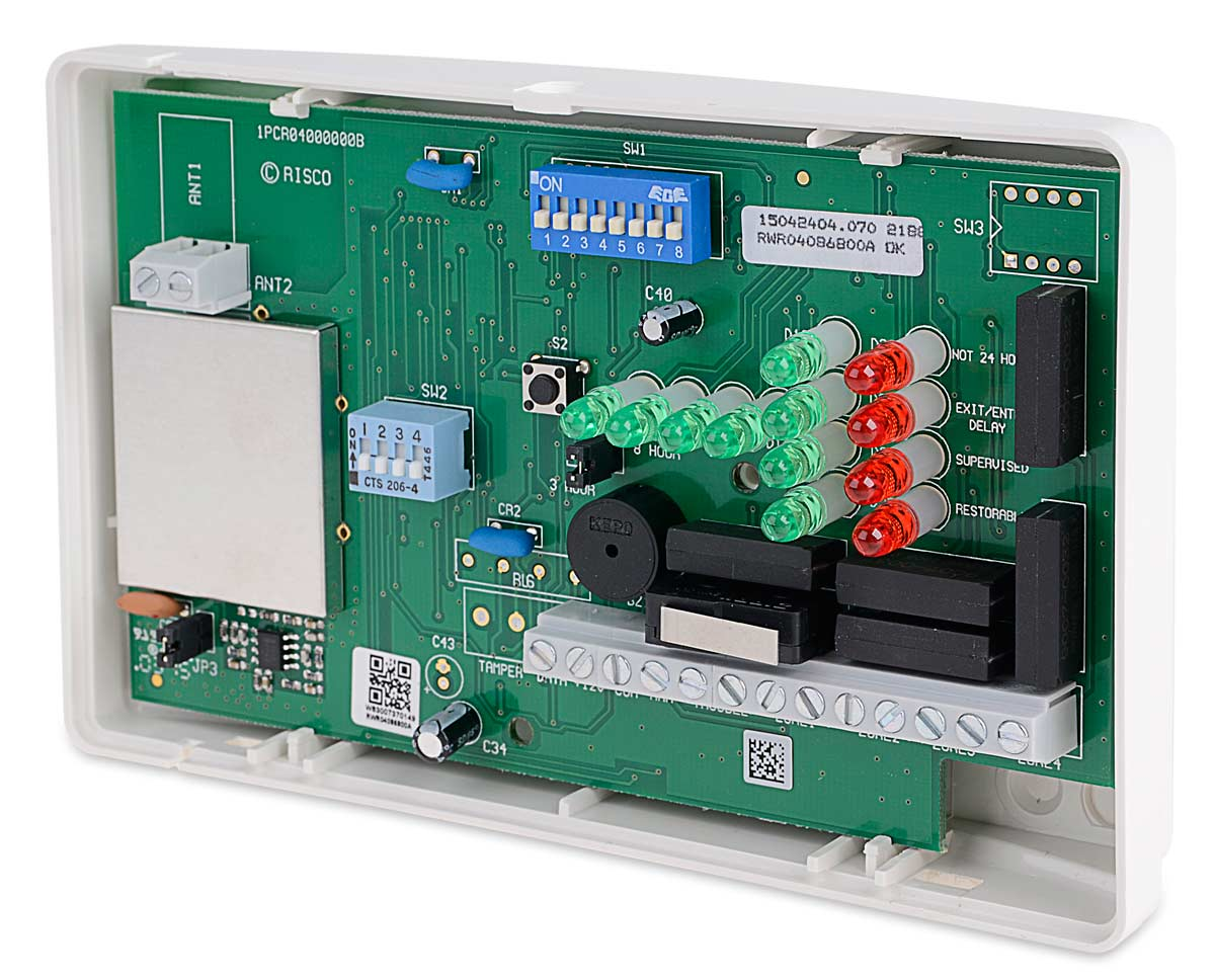 Wnętrze radioodbiornika 868 MHz RWR0408 NOVA IV