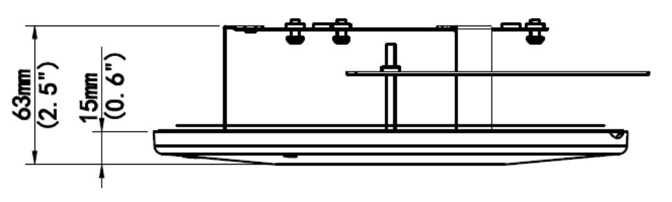 Wymiary uchwytu BCS-P-A151