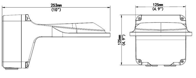 Wymiary uchwytu BCS-P-UA111