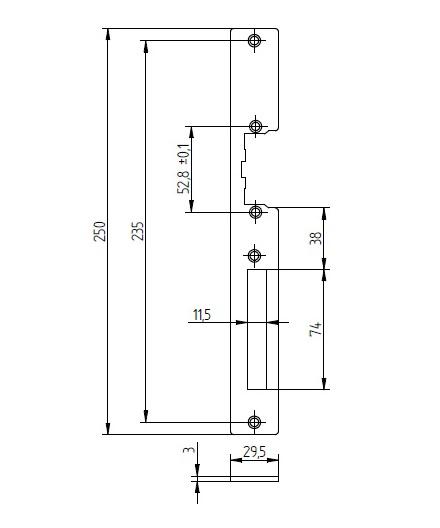 Wymiary szyldu SP250-C