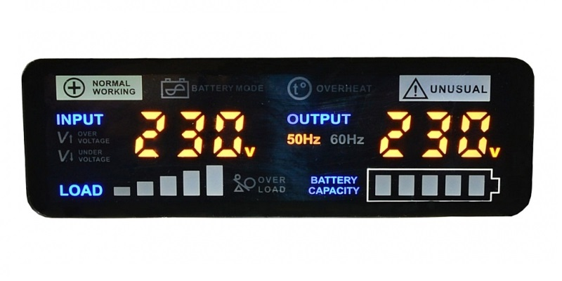 Wyświetlacz zasilacza sinusPRO-1500 E 12V