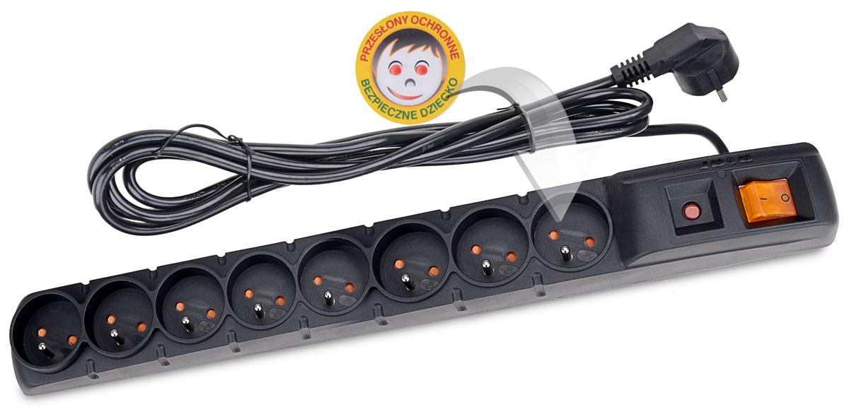 Zabezpieczenie listwy ACAR S8 3M chroniące dzieci przed porażeniem prądem