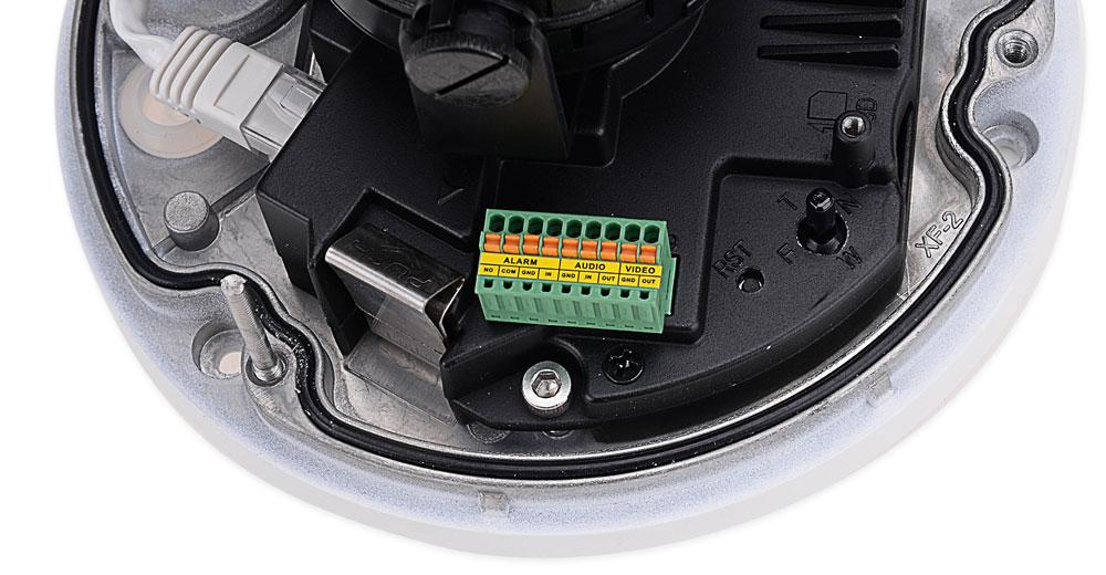 Wejścia / wyjścia alarmowe w kamerze BCS-DMIP8200IR-LL