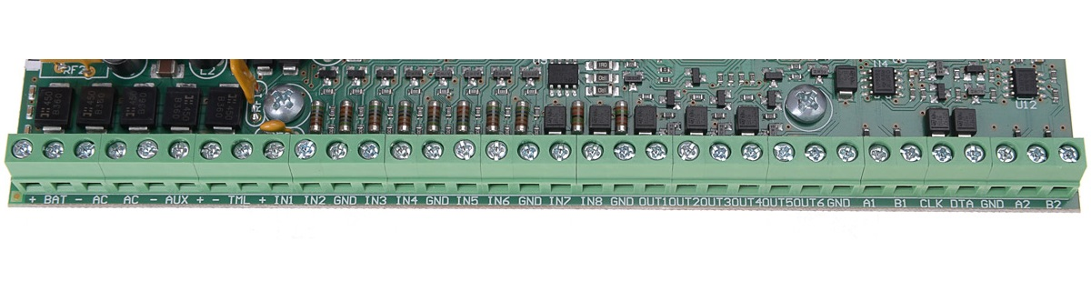 Zaciski modułu kontroli dostępu MC16-1