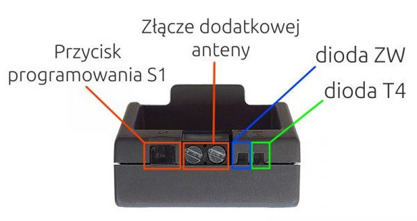 Złącza modułu BIDI-ZWAVE