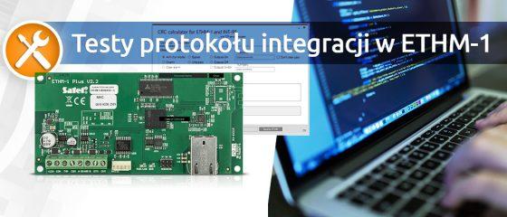 Testy protokołu integracji w ETHM-1