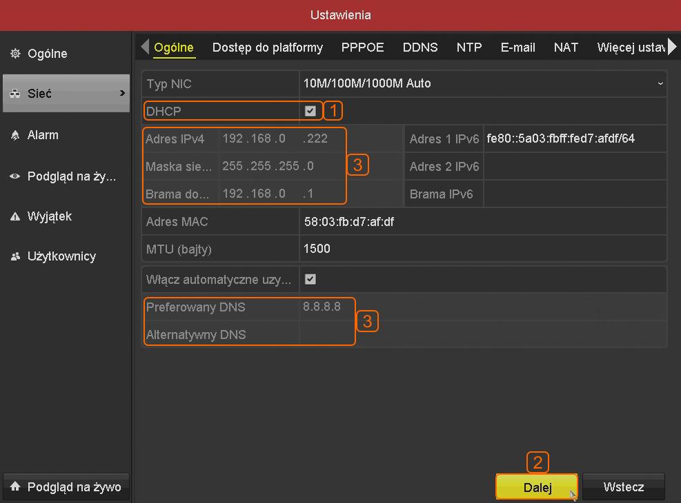 Jak zmienić ustawienia sieciowe rejestratora Hikvision (Hiwatch)