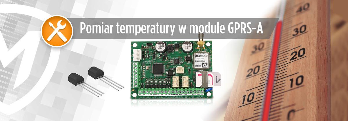 Pomiar temperatury w module GPRS-A