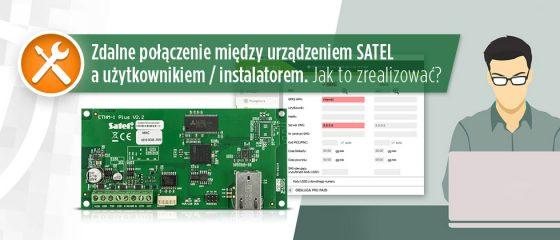 Zdalne połączenie między urządzeniem SATEL a użytkownikiem - instalatorem