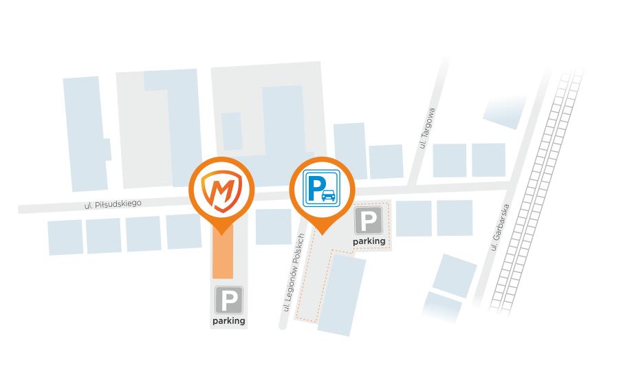 mapa: parking w czasie szkolenia montersi.pl