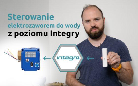 Sterowanie elektrozaworem do wody z poziomu Integry