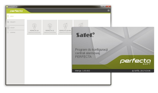 SATEL Perfecta-soft programu