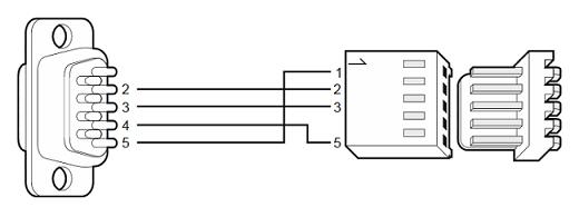 satel int-klcd rs-232 schemat