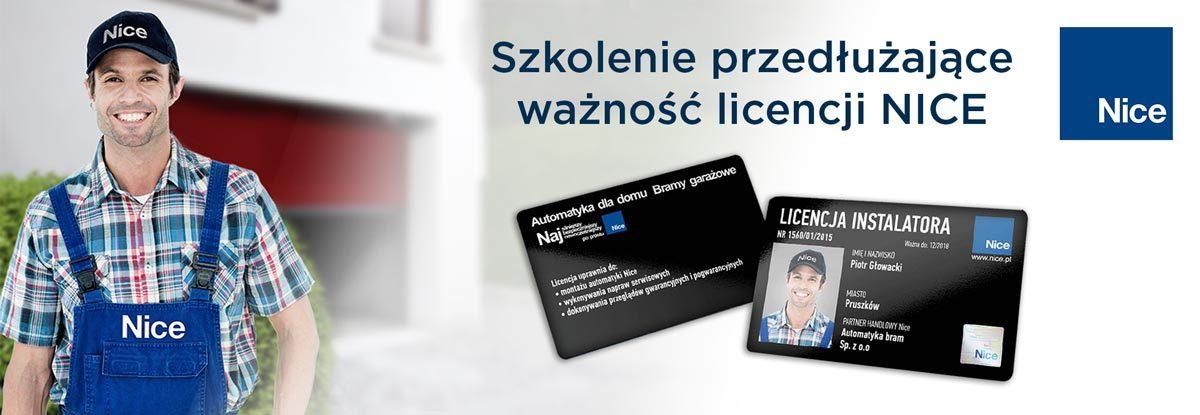 Szkolenie przedłużające ważność licencji NICE