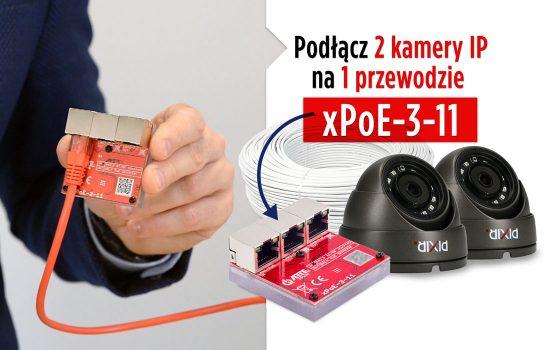 ATTE xPoE-3-11 - jak podłączyć 2 kamery IP na jednym przewodzie?